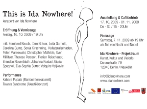 IDA NOWHERE opening back