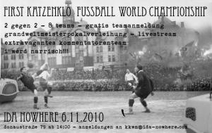 Katzenklo Fussball Weltmeisterschaft
